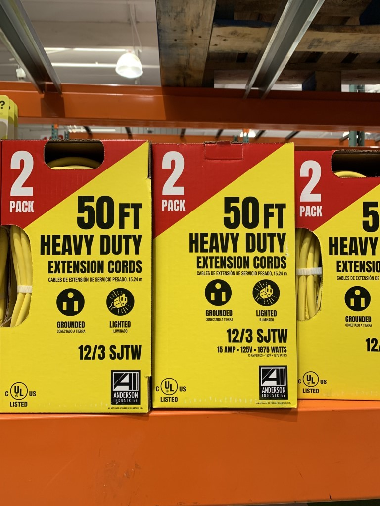 Pack of 2 Anderson Industries 50ft Heavy Duty Extension cord