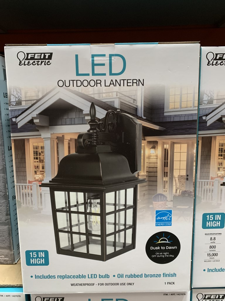 Image of: Costco Light Fixture Feit 15 Inch Outdoor Lantern Costco Fan
