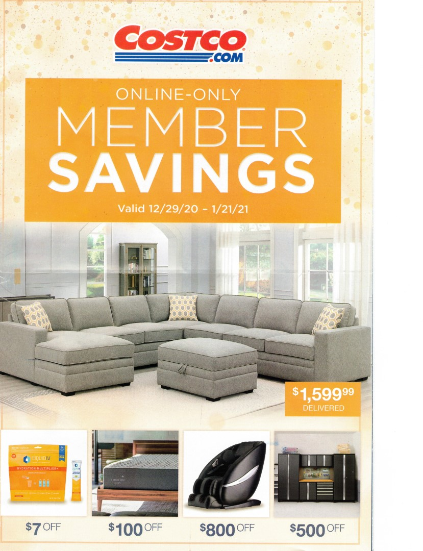 Costco Member Savings January 2021 Online Only Coupon Book Costco Fan